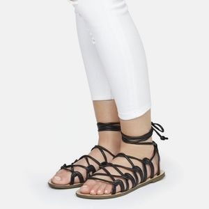 JustFab Lace-Up Sandals